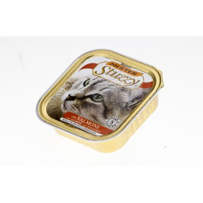 Mister stuzzy cat pate' con salmone gr. 100