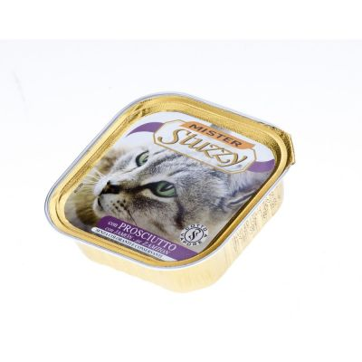 Mister stuzzy cat pate' con prosciutto gr. 100