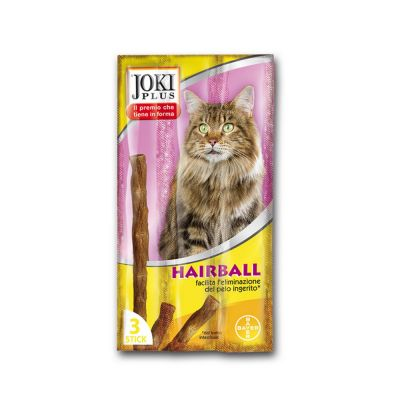 "Snack per gatto joki plus gatto ""special hairball"" pz. 3"