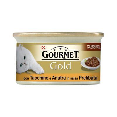 Gourmet gold doppio piacere con anatra e tacchino umido gatto gr. 85