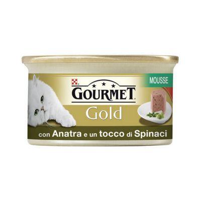 Gourmet gold mousse con anatra e spinaci umido gatto gr. 85
