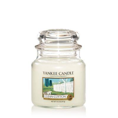 Giara profumata yankee candle clean cotton media