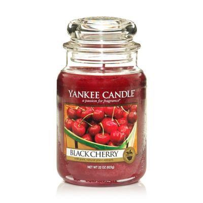 Giara profumata yankee candle black cherry grande