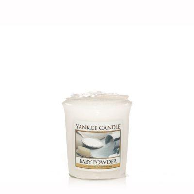 Moccolo profumato yankee candle baby powder