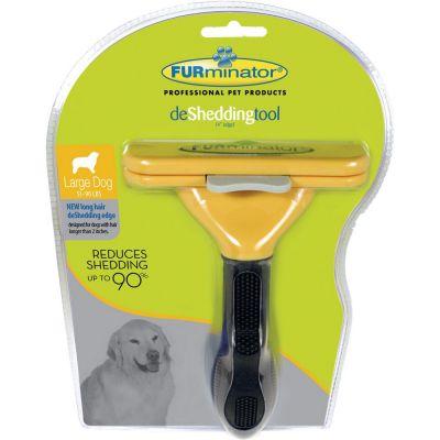 """Pettine per cane a pelo lungo long hair de shedding furminator """"l"""""""