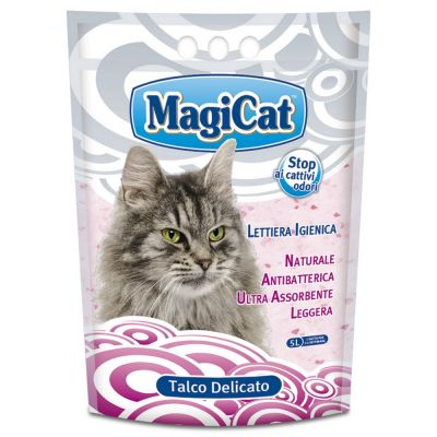 Lettiera igienica magic cat talco delicato per gatti lt. 5