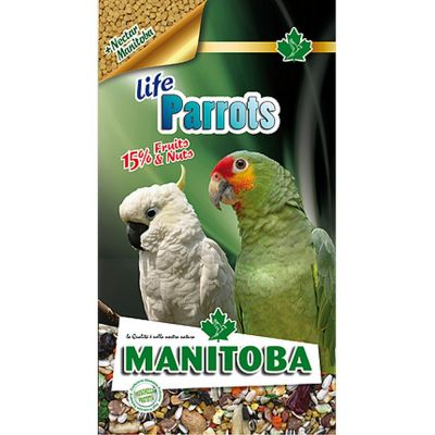 Mangime per uccelli parrots life manitoba kg. 2