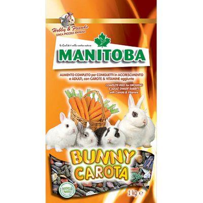 Mangime per coniglio bunny carota manitoba kg. 1