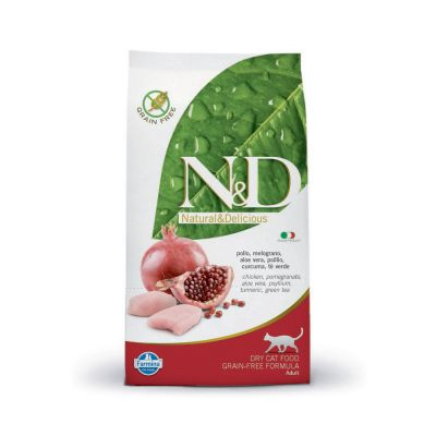 N & d prime grain free con pollo e melograno secco gatto gr. 300