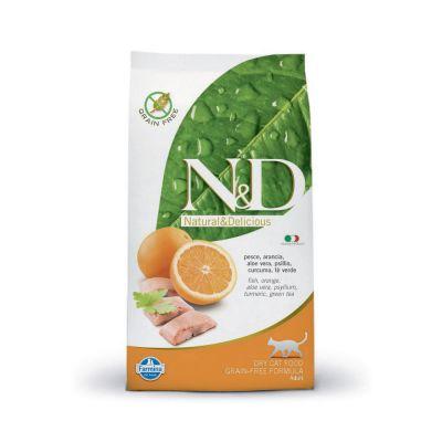 N & d grain free con pesce oceanico e arancia secco gatto kg. 1,5
