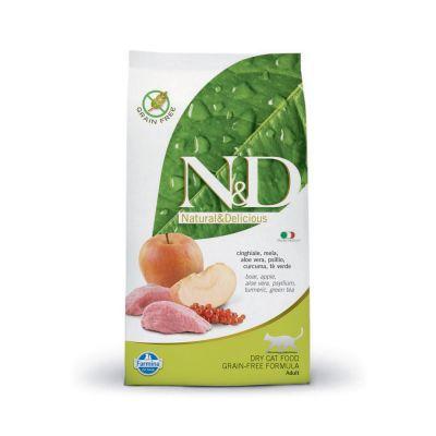 N & d prime grain free con cinchiale e mela secco gatto kg. 1,5