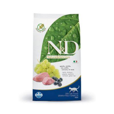 N & d prime grain free con agnello e mirtillo secco gatto kg. 1,5