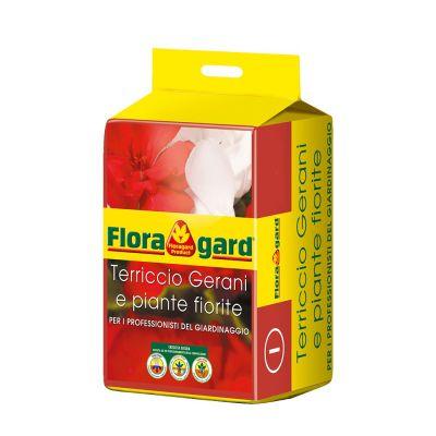 Terriccio per gerani e piante fiorite floragard