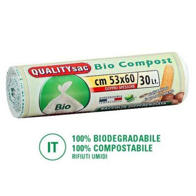 Sacchetti biodegradabili per compostaggio 30lt