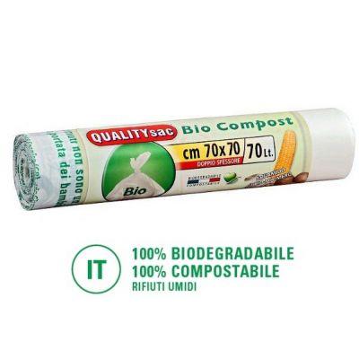 Sacchetti biodegradabili per compostaggio 70lt