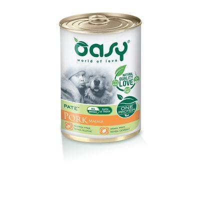 Oasy one protein umido cane al maiale 400gr