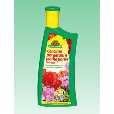 Biotrissol concime liquido per gerani e piante fiorite neudorff lt. 1