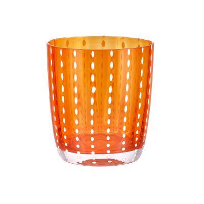 Bicchiere tumbler carnival arancione