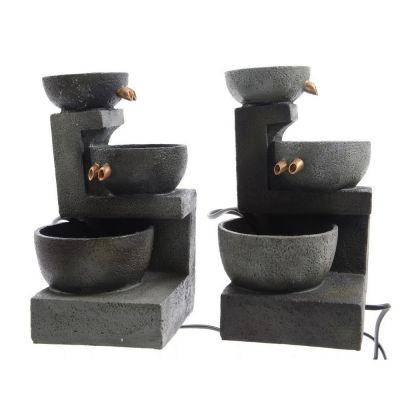 Fontana in plastica a 3 vasche