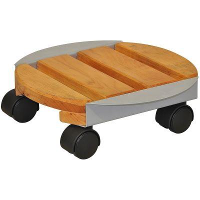 Sottovaso tondo pegasus in legno di abete e metallo