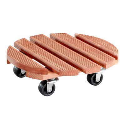 Sottovaso tondo toscana in legno di abete