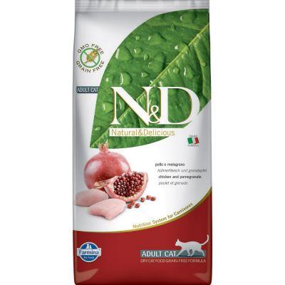 N & d grain free con pollo e melograno secco gatto kg. 5