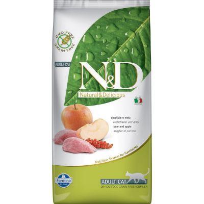 N & d grain free con cinchiale e mela secco gatto kg. 5