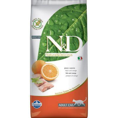 N & d grain free con pesce oceanico e arancia secco gatto kg. 5