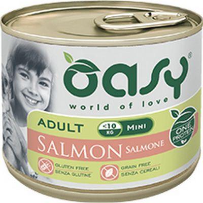 Oasy one protein umido cane mini al salmone 200gr