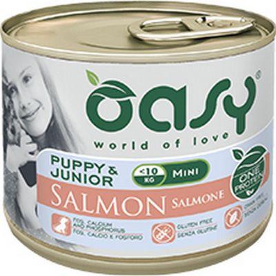Oasy one protein umido cane puppy mini al salmone 200gr