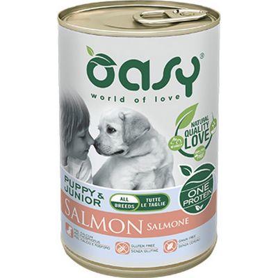 Oasy one protein umido cane puppy al salmone 400gr