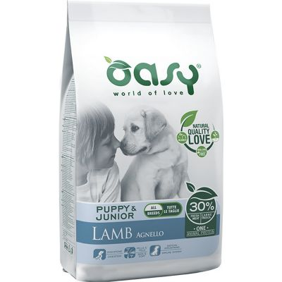 Oasy one protein secco cane puppy all'agnello 2,5kg