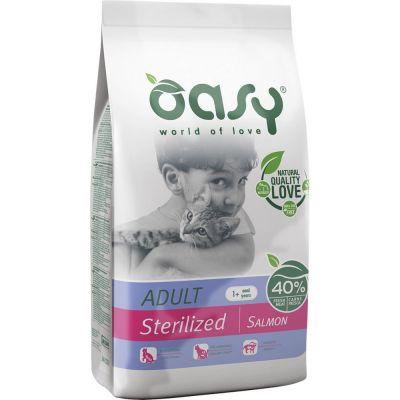 Oasy alimento secco per gatto sterilizzato al salmone 300gr