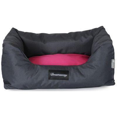 Petit sofa boston antracite-fuchsia