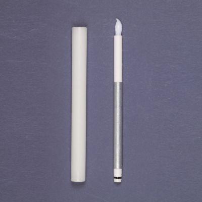 Set 2 candele bianche con 1 led classic effetto fiamma