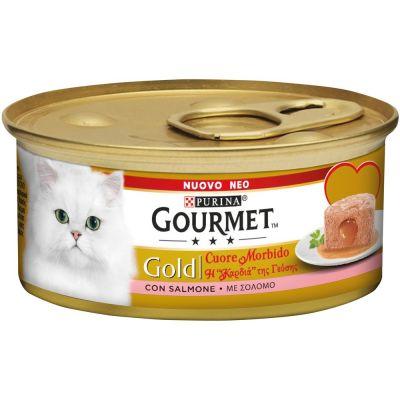 Gourmet Gold Cuore morbido salmone umido gatto 85g