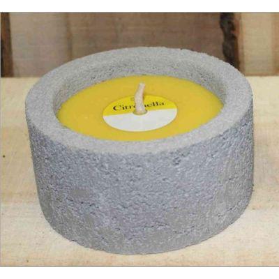 Candela citronella anti zanzare in vaso di cemento