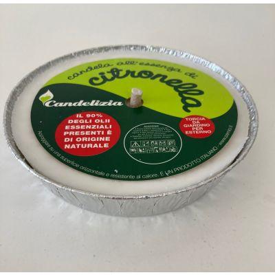Citronella bianca in ciotola di alluminio 13 cm