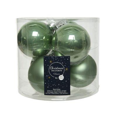 Confezione palline di Natale in vetro enamel-mat Ø 8CM