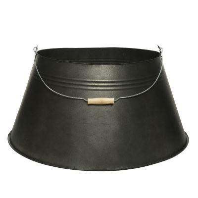 Copribase Albero di Natale industrial in zinco nero 57 cm