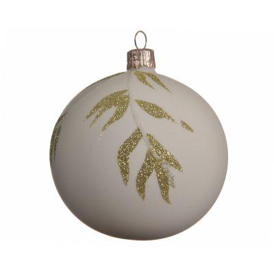 Palla di Natale glitter branch leaf ma