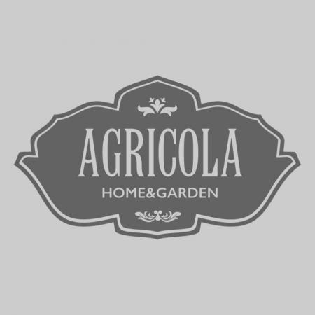 Glass moon hanger wool white