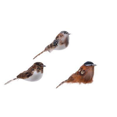 Fthr bird on clip 3ass 3 asso