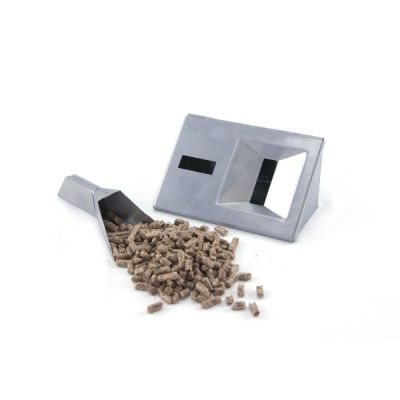 Stainless gas grill v-smoker