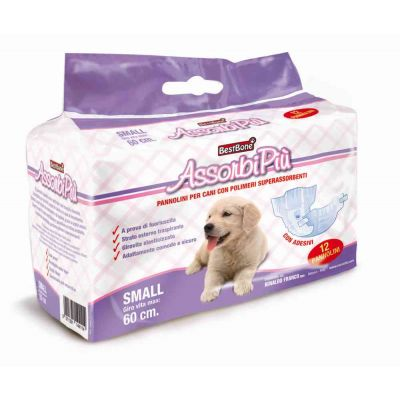Mutandine per cani assorbenti Small x 12