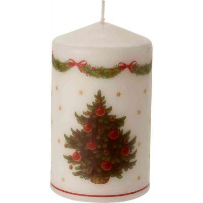 Candela con albero di Natale 7x12 cm