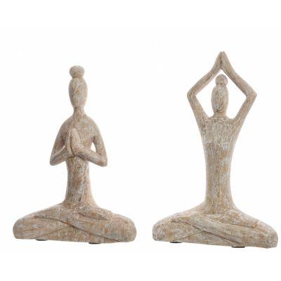 Mango wood lady yoga