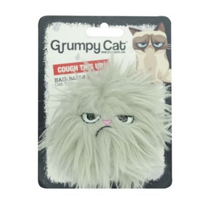 Grumpy cat hair balls