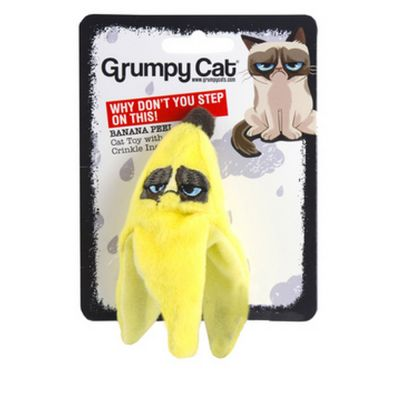 Grumpy cat banana peel
