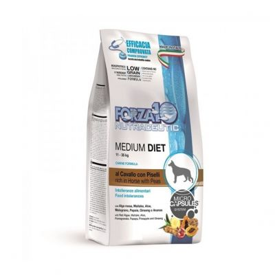 Forza10 medium diet low grain cavallo - piselli kg. 12